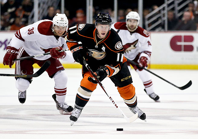 Saku Koivu registered 27 points for the Ducks last season, his fourth with the team.