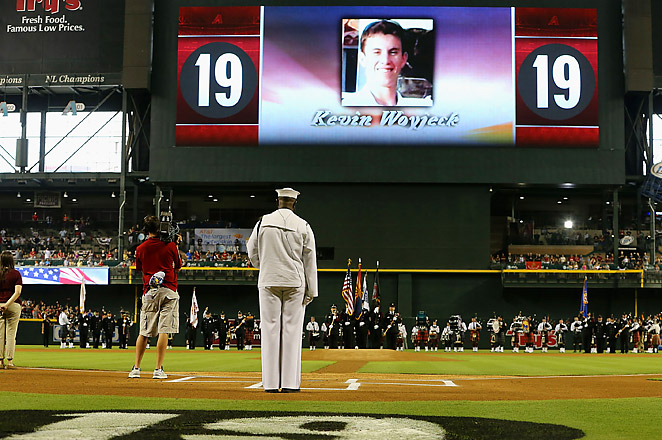 The Diamondbacks played their first home game since 19 firefighters died in the Yarnell Hill Fire.