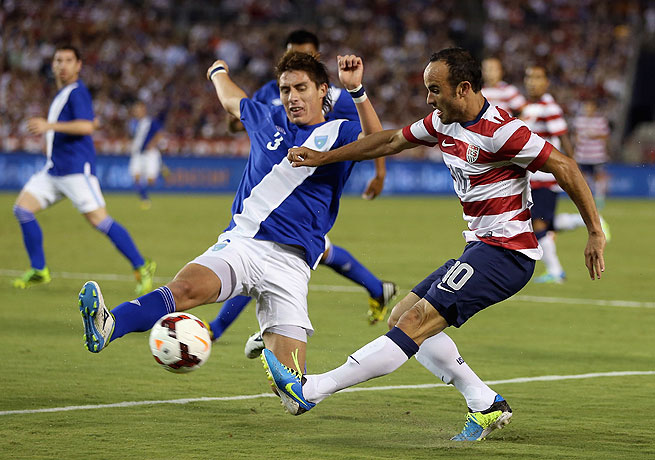Landon Donovan (right) notched his 50th and 51st international goals for the U.S. soccer team Friday.