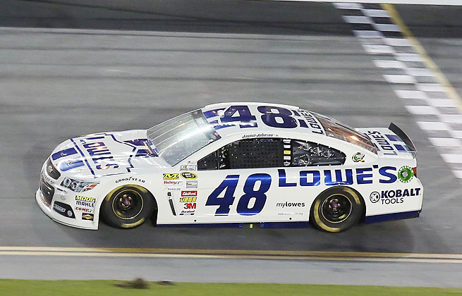 Jimmie Johnson won his fourth race of the year and his second at Daytona in the Coke Zero 400.