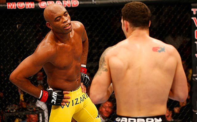 Silva talked, taunted and dared Weidman to engage him.