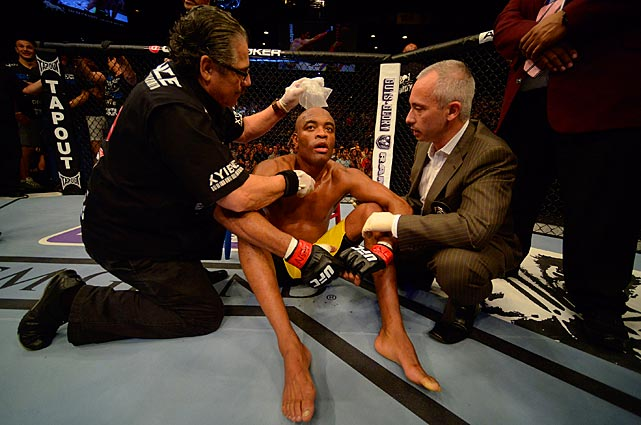 Silva never lost consciousness, and was quickly attended to in the octagon.