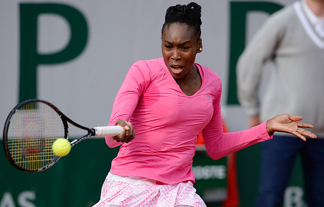 Venus Williams has not played since suffering a lower back injury after losing in the French Open.