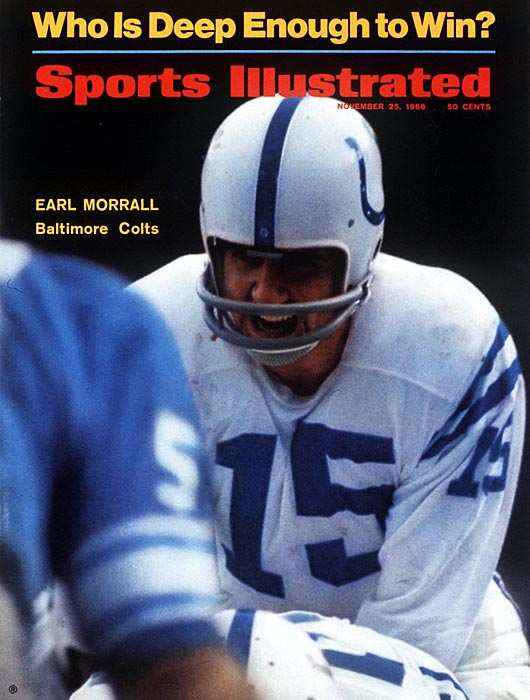 Morrall on the cover of SI.