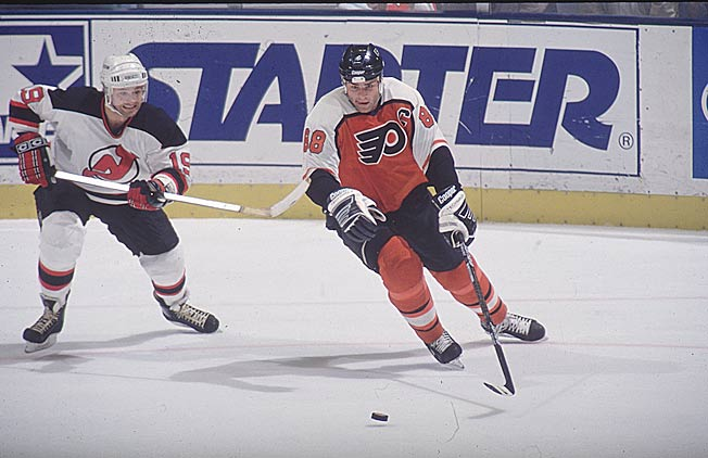Though his career was cut short by injury, Eric Lindros was a formidable presence early in his career.