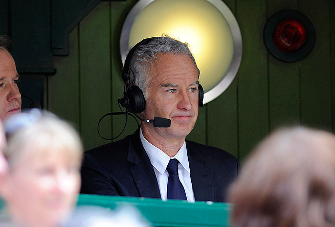 John McEnroe, along with Patrick McEnroe and Chris Fowler, commentated the Novak Djokovic-Andy Murray final at Wimbledon.