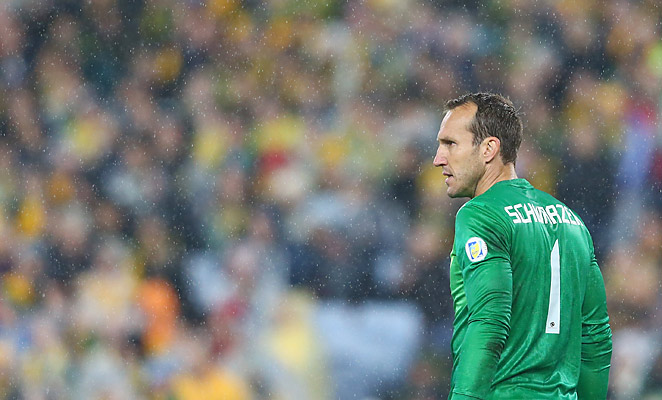 Mark Schwarzer led Australia to World Cup Qualification with a win over Iraq in June.