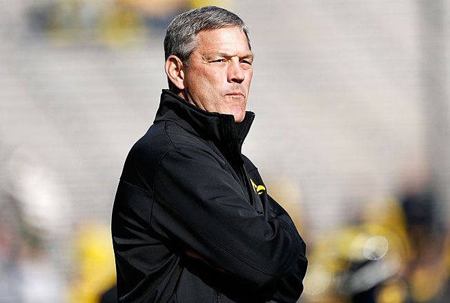 Iowa fans rushed defend coach Kirk Ferentz despite his 27-29 Big Ten record over the last seven years.