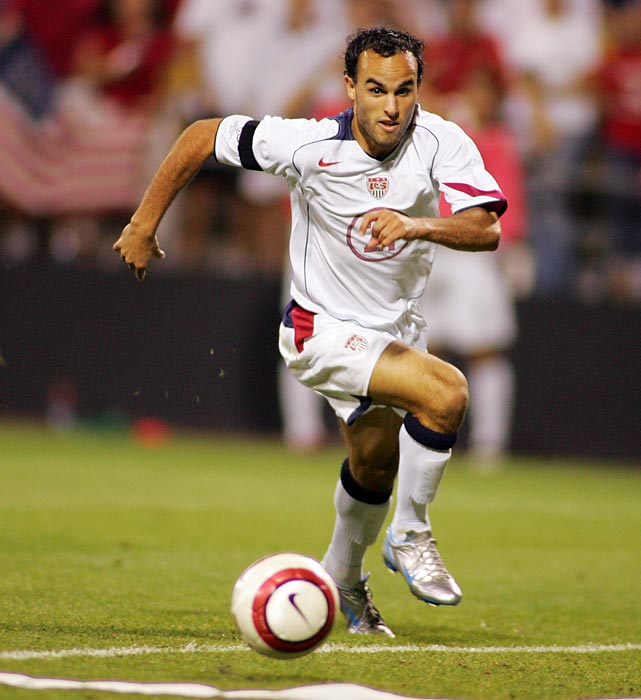 Donovan in action vs. Mexico during a 2006 World Cup qualifier.