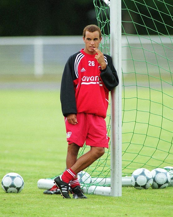 Donovan during a quiet moment with Bayer Leverkusen.