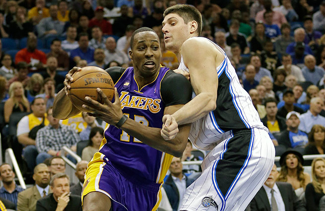 Nikola Vucevic (right) replaced Dwight Howard in Orlando and should be a Magic fixture for years to come.
