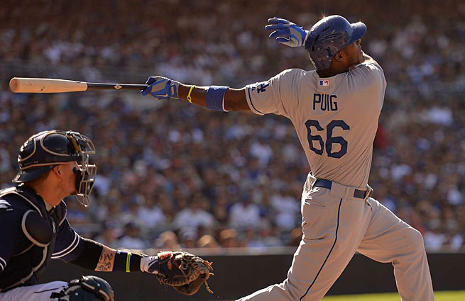 Yasiel Puig didn't debut until June 3 but he's already moved to the head of a strong NL rookie class.