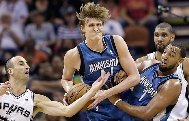 Andrei Kirilenko averaged 12.4 points and 5.7 rebounds per game for the Timberwolves last season.