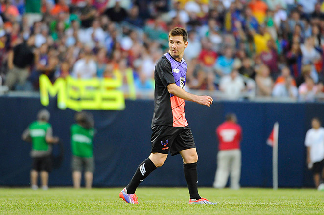 Messi left the field of his charity game in Chicago in the 69th minute, and left the stadium shortly after.