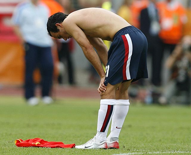 A disappointed Donovan after the U.S. was eliminated from the 2006 World Cup after its third game.