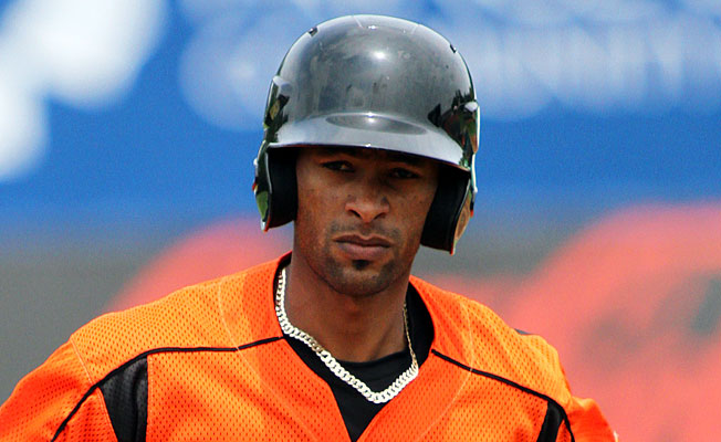 Baltimore Orioles' outfield prospect Henry Urrutia is hitting .357 through his first 14 games in Triple-A.