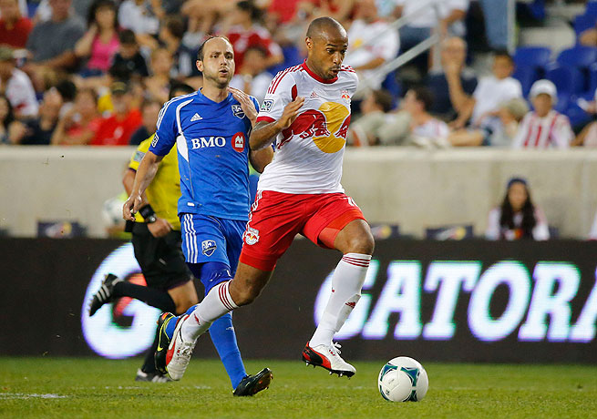 Thierry Henry helped the Red Bulls move into a tie with Montreal for first place in the East.
