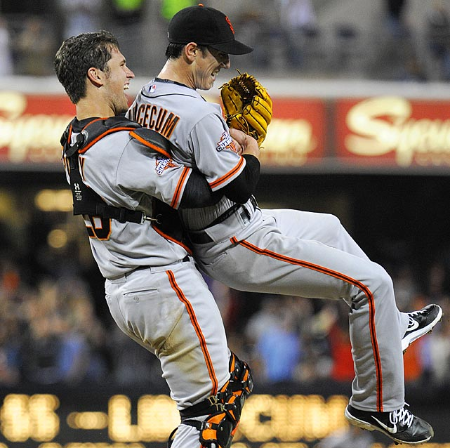 Tim Lincecum pitched his first career no-hitter and the second in the majors in 11 days, a gem saved by a spectacular diving catch by right fielder Hunter Pence in the San Francisco Giants ' 9-0 win over last-place San Diego. The two-time Cy Young winner threw a career-high 148 pitches.