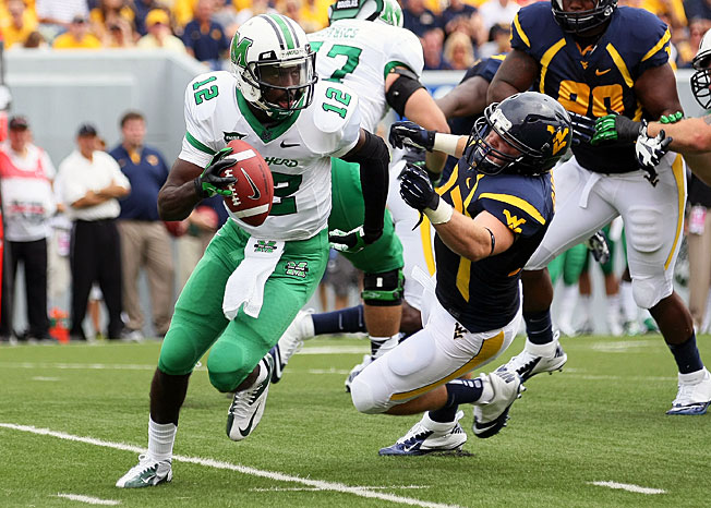 Rakeem Cato passed for 4,201 yards and 37 TDs during his sophomore campaign for Marshall in 2012.