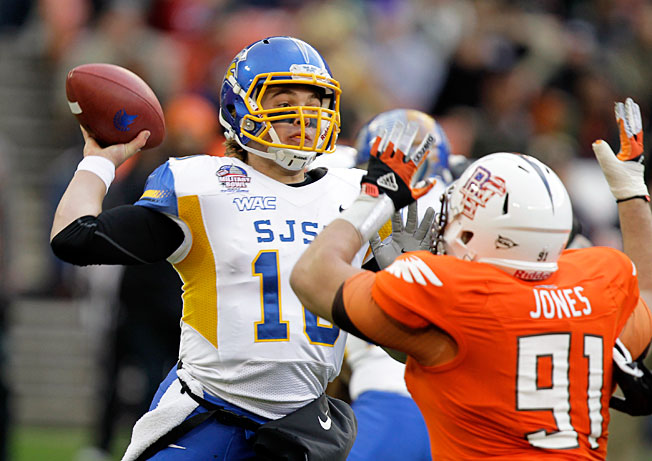 San Jose State QB David Fales passed for 4,193 yards and 33 TDs during his breakout 2012 campaign.