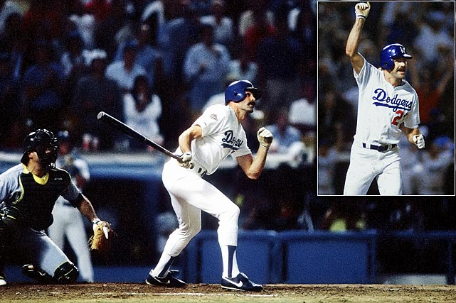 Kirk Gibson shocked the A's -- and the baseball world -- with his pinch-hit, game-winning home run in the bottom of the ninth off Dennis Eckersley in Game 1 of the World Series. It was Gibson's only at-bat of the Series, which the Dodgers won in five games. On the 25th anniversary of Gibson's historic homer, we present Major League Baseball's most memorable home runs through the years.