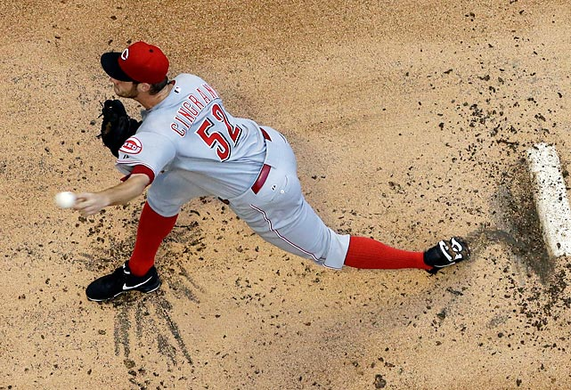 Cincinnati Reds starter Tony Cingrani delivers a pitch against the Milwaukee Brewers on Tuesday, July 9, in Milwaukee.