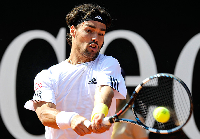 Fabio Fognini came back from a set down to beat Philipp Kohlschreiber for his first career ATP title.