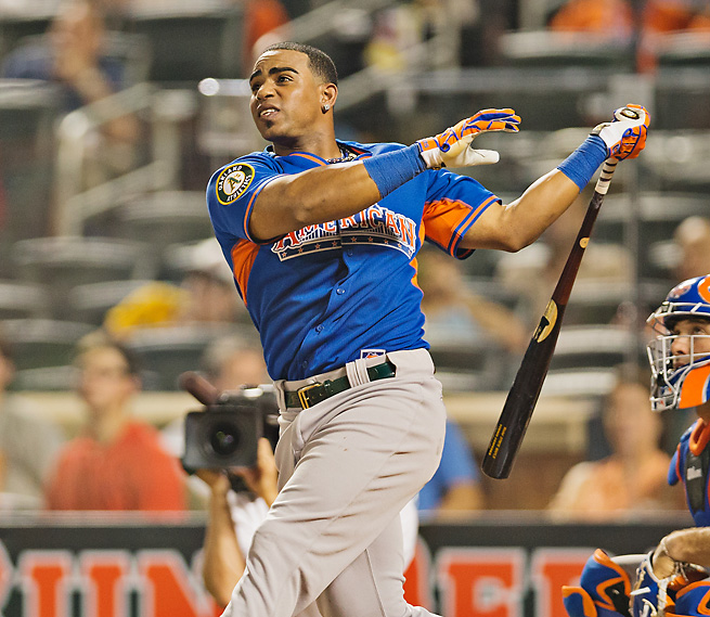 Yoenis Cespedes was the star Monday's Home Run Derby, belting towering homers in his victory.