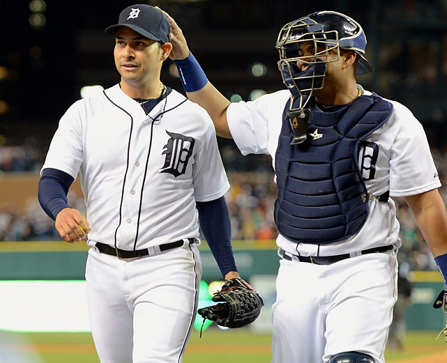 Tigers pitcher Anibal Sanchez set a franchise record against the Braves on 26, striking out 17 over eight innings in a 10-0 win. Sanchez , who had signed a five-year, $80 million contract with Detroit in the offseason, became just the fourth pitcher to strike out that many batters in a game in the past decade.