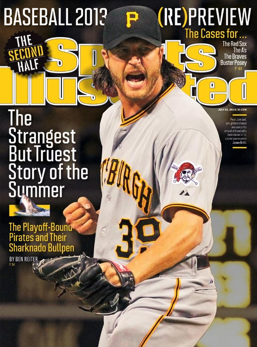 "The Pittsburgh Pirates ended the first half of the season with the second-best record in the league at 56-37. Jason Grilli and the ""Shark Tank"" of a bullpen have had a lot to do with the team's success, which is drawing fans back to the ballpark. Read Ben Reiter's story in this issue of SI to learn more about the Pirates."