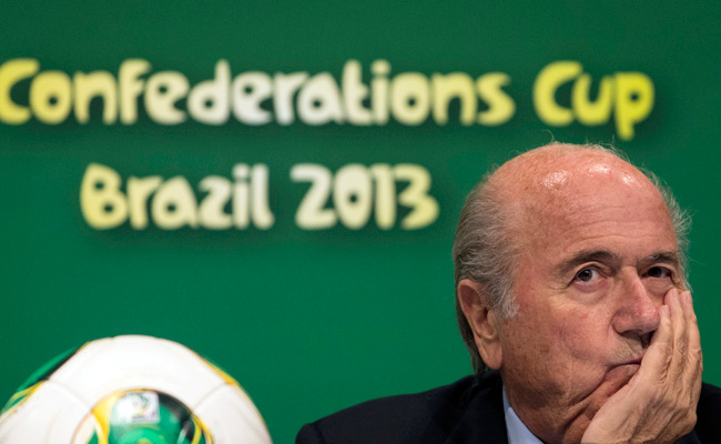 FIFA's Sepp Blatter said he'll discuss ways to avoid protests during the World Cup with Brazil's president.