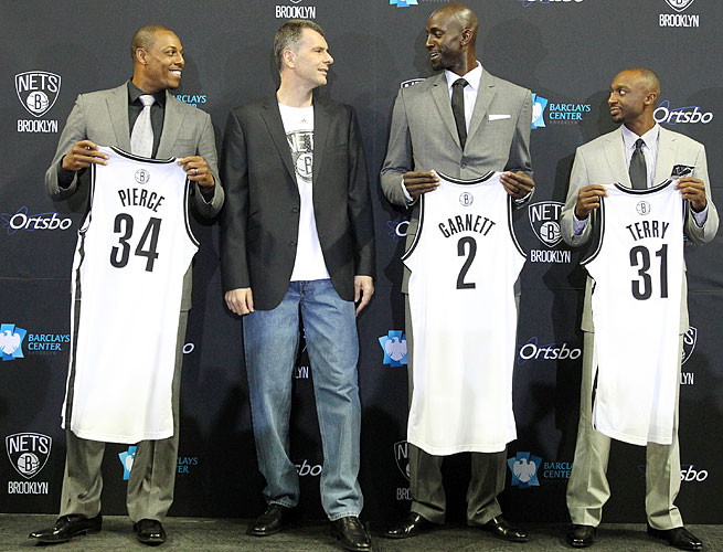 Nets owner Mikhail Prokhorov is seeking a title with Paul Pierce, Kevin Garnett and Jason Terry.