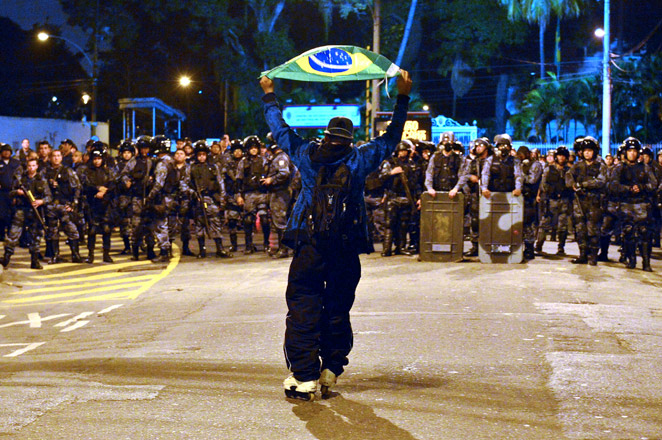 Recent protests led FIFA president Sepp Blatter to question the choice of Brazil as World Cup host.