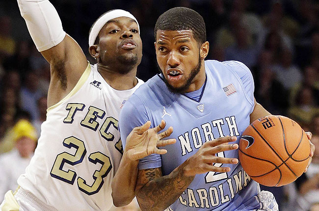 Tar Heels' McDonald is featured on a company website for wearing an argyle mouthpiece pictured above.