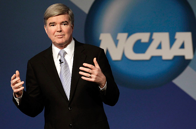 NCAA president Mark Emmert has spoken about the effects of concussions on college athletes.