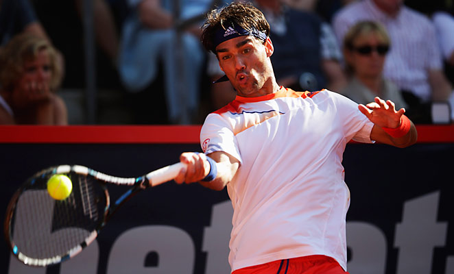 Fabio Fognini saved three match points in his win in the final over Argentine Federico Delbonis.