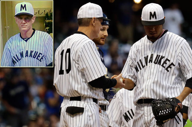As part of a Negro Leagues tribute on July 20, 2013, the Brewers wore reproduction uniforms of the Milwaukee Bears, the city's 1923 representative in the Negro National League. Unfortunately for manager Ron Roenicke, the city of Milwaukee was misspelled Milwakuee on the front of his uniform. <italics>SI.com takes a look at the many other notable misspellings on sports jerseys through the years. </italics>