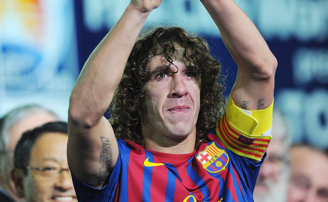 35-year-old Carlos Puyol has been with Barcelona for his entire career.