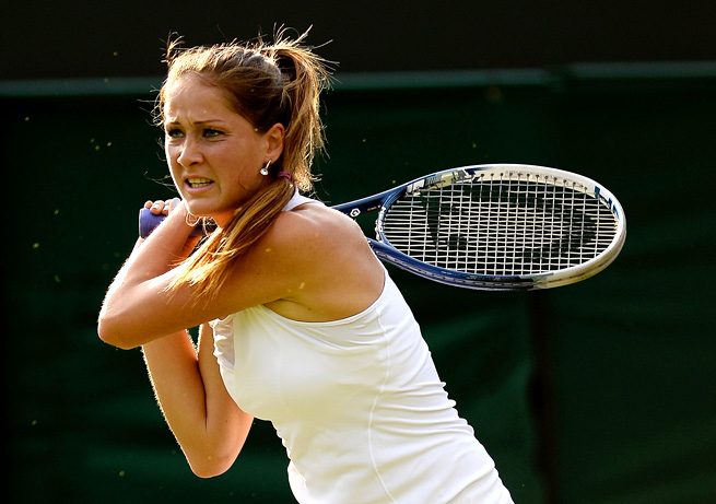 Defending champion Bojana Jovanovski defeated Nigina Abduraimova 6-3, 6-3 on Tuesday.