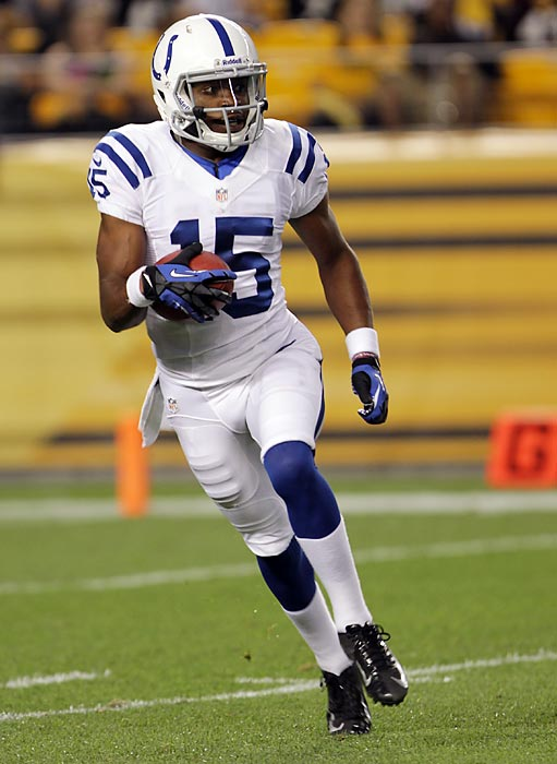 LaVon Brazill caught one of Andrew Luck's four touchdown passes in a 35-33 win over Detroit last season. He won't get a chance to repeat that feat until Week 5 of the 2013 season, after drawing a four-game suspension for violating the league's substance abuse policy.