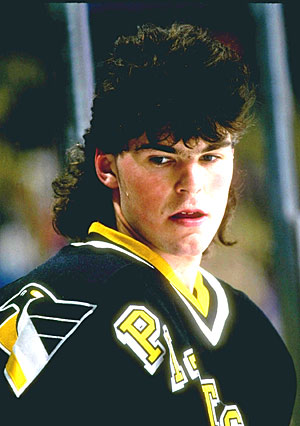 Jagr during his glory days as Mario Lemieux's sidekick in Pittsburgh.