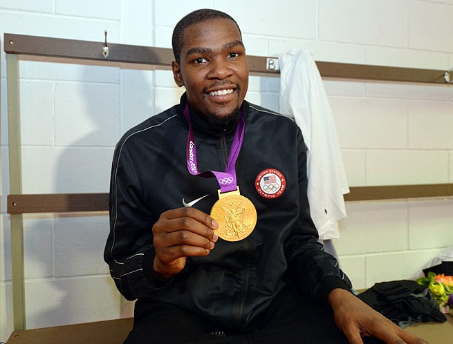 Thunder forward Kevin Durant averaged 19.5 points a game for Team USA at the London Olympics.