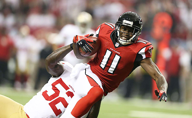 Julio Jones had five games of at least 100 yards receiving over the 2012 regular season and playoffs.