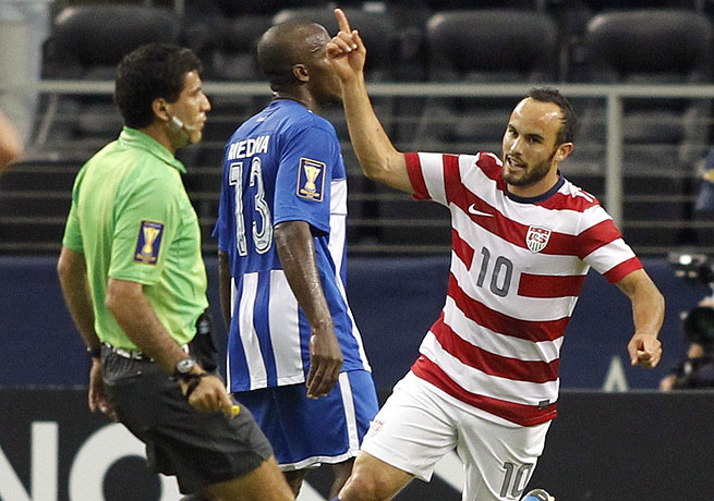 Landon Donovan scored in both the 27th and 53rd minutes to lift the United States over Honduras.
