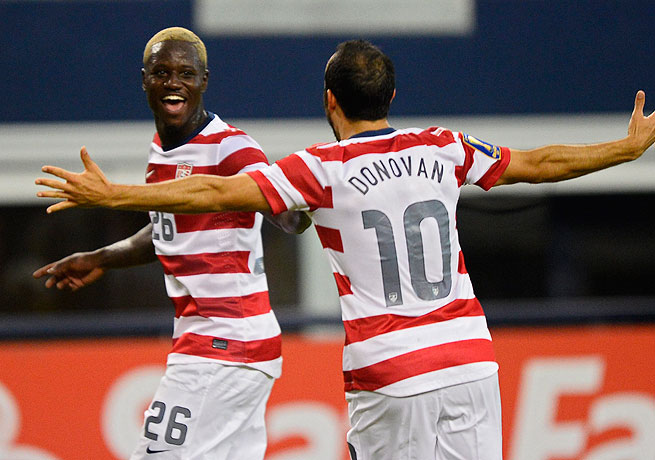Eddie Johnson (left) and Landon Donovan have shown rejuvenated form during the Americans' streak.