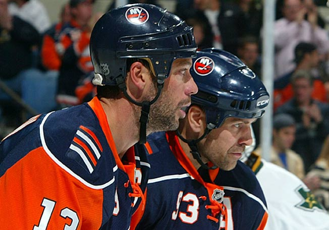 Bill Guerin and Doug Weight were Olympic as well as NHL teammates with the Isles, Blues and Oilers.