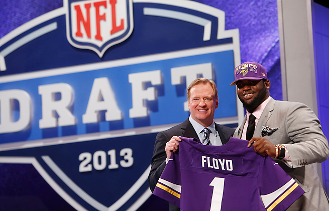 Defensive tackle Sharrif Floyd is one of three first-round draft picks the Vikings have added this year.