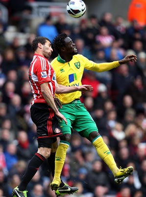 Kei Kamara scored one goal in 11 appearances for Norwich City.