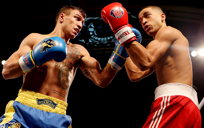Vasyl Lomachenko (left) won gold medals at Beijing and London, as well as two world championships.