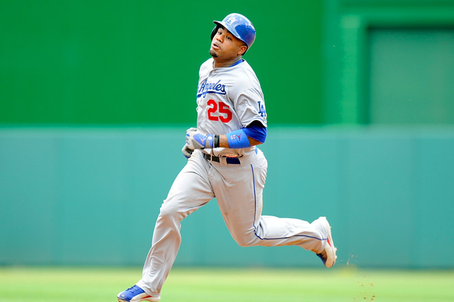 Carl Crawford is hitting .289 with five homers and 16 RBIs in 67 games for the Dodgers.